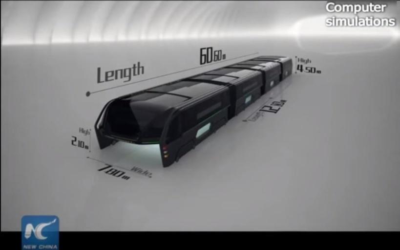 Le bus enjambeur en Chine est une escroquerie planétaire