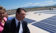 Christian Estrosi, alors Ministre de l'industrie, en visite à Llo en 2010