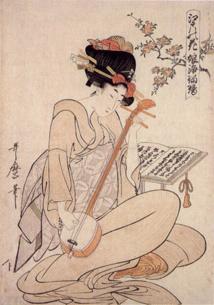 Fleur d'Edo - Estampe par Kitagawa Utamaro (1800)