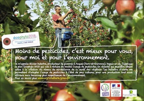 Baisse de l'utilisation de pesticides en 2012