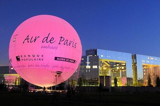 Ballon Air de Paris, tourisme et mesure de la qualité de l'air