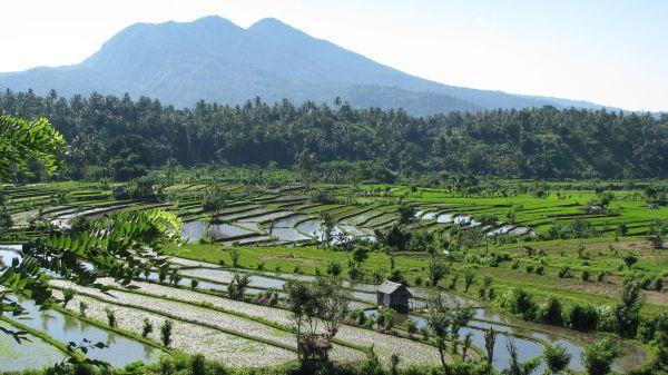© IRD/Monique Michaux-Cloarec Vue du volcan Agung sur l'île de Bali en Indonésie