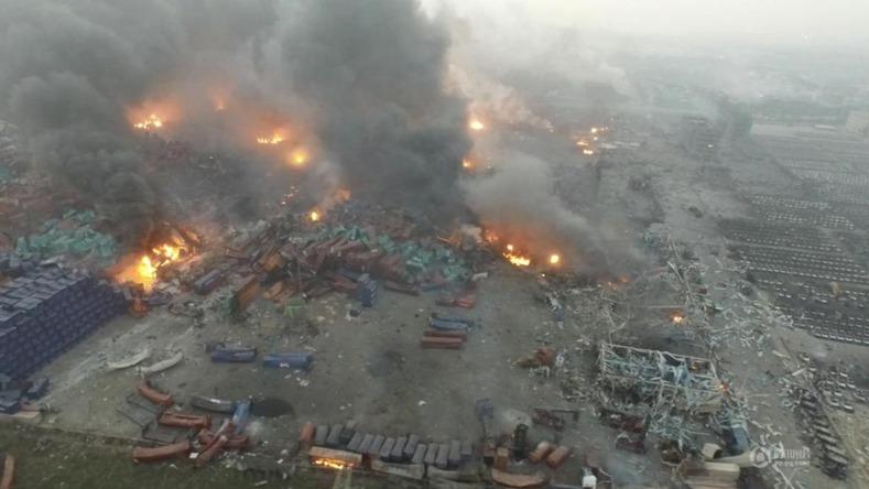 Catastrophe de Tianjin - Impression d'écran