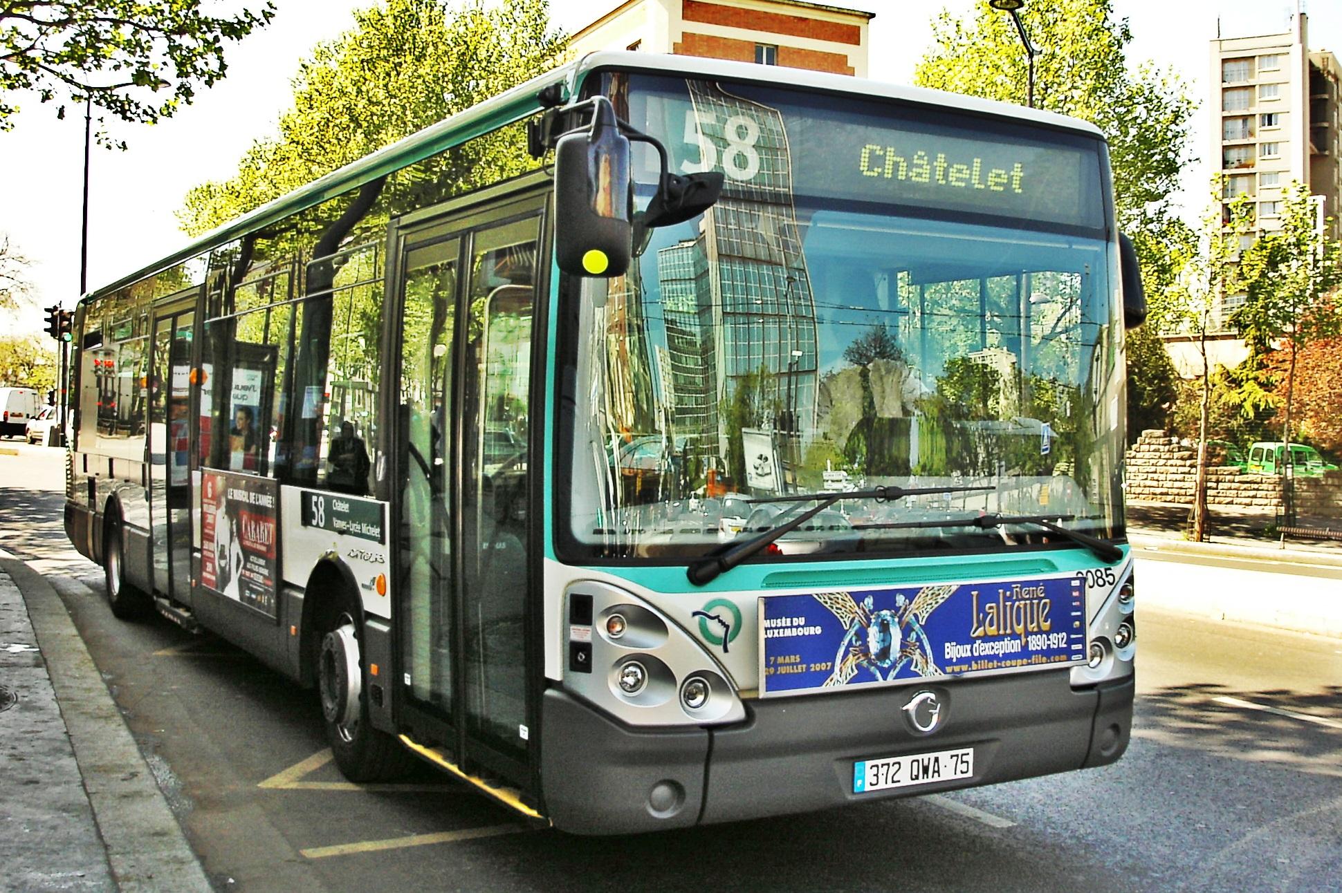 Iveco Bus, anciennement Irisbus, fournit déjà une partie du parc de la RATP (sous licence Creative Commons)