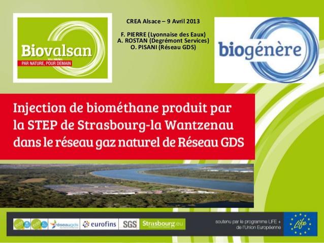 Strasbourg, du gaz à partir du traitement d'eaux usées