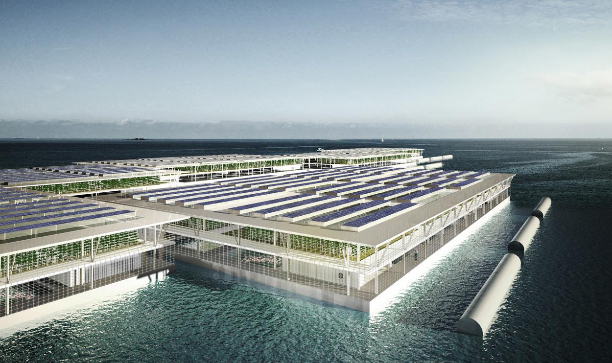 Alimentation et énergie, des fermes flottantes comme solution d'avenir