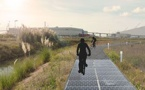 Ouverture d'une piste cyclable en énergies renouvelables