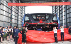 Test grandeur nature du bus enjambeur de circulation en Chine